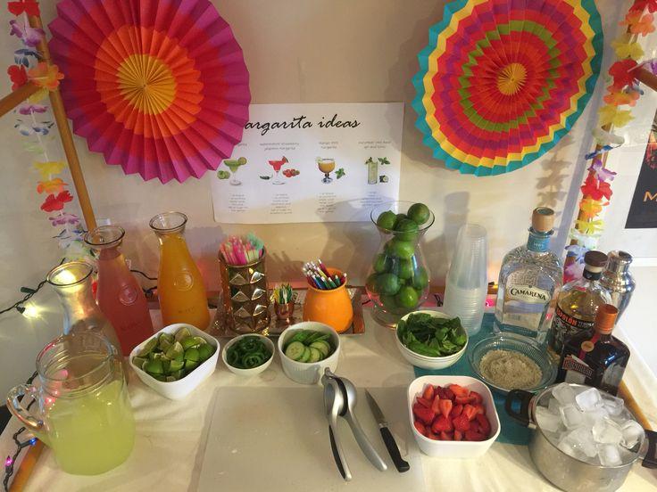 DIY margarita bar. Make your own margaritas tequila