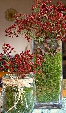 Jesień - stylowa ozdoba stołu lub komody wprowadzi w pokoju jesienną, ciepłą atmosferę :)