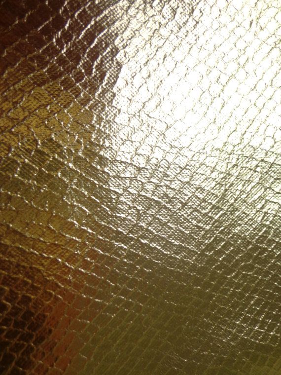Gold Shiny Textured Pleather Fabric