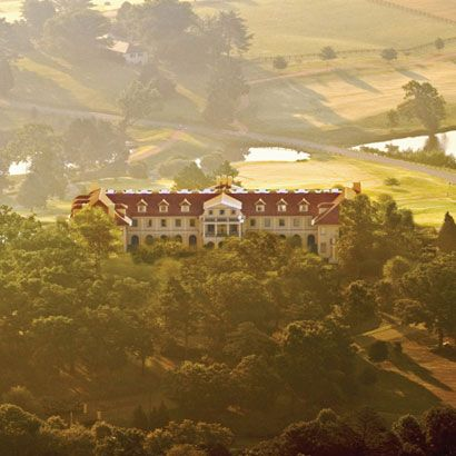 Keswick Hall, Virginia, and yes, you can stay here. This is a 48-room boutique hotel. History and spectacular landscapes come together at Charlottesville, where Thomas Jefferson country meets Virginia's Blue Ridge Mountains.