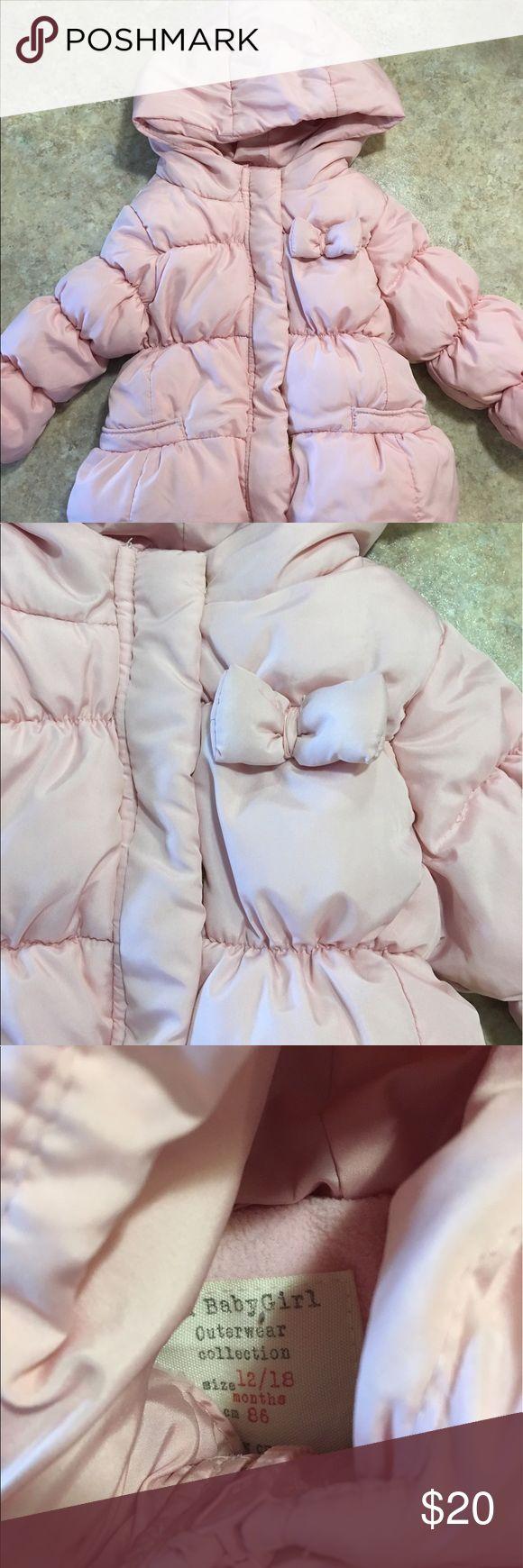 Zara winter puffer with hood Light pink pretty puffer jacket.  EUC. Zara Jackets & Coats Puffers