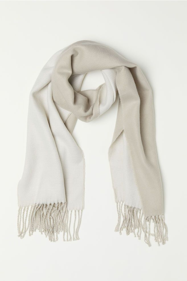 1660f322a Woven Scarf in 2019 | acessories | Woven scarves, Light beige, H&m