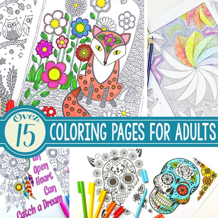 15 gorgeous free adult coloring pages