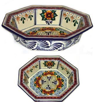 Octagonal Talavera Bowl