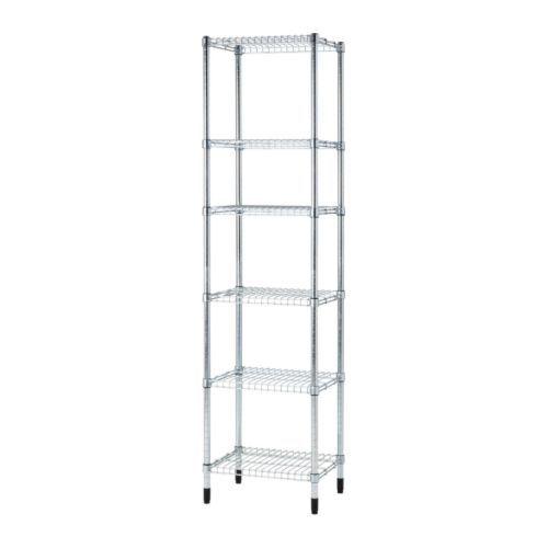 IKEA - OMAR, 1 hyllsektion, Enkel att montera - inga verktyg behövs.Står stadigt även på ojämna golv eftersom fötterna går att justera.