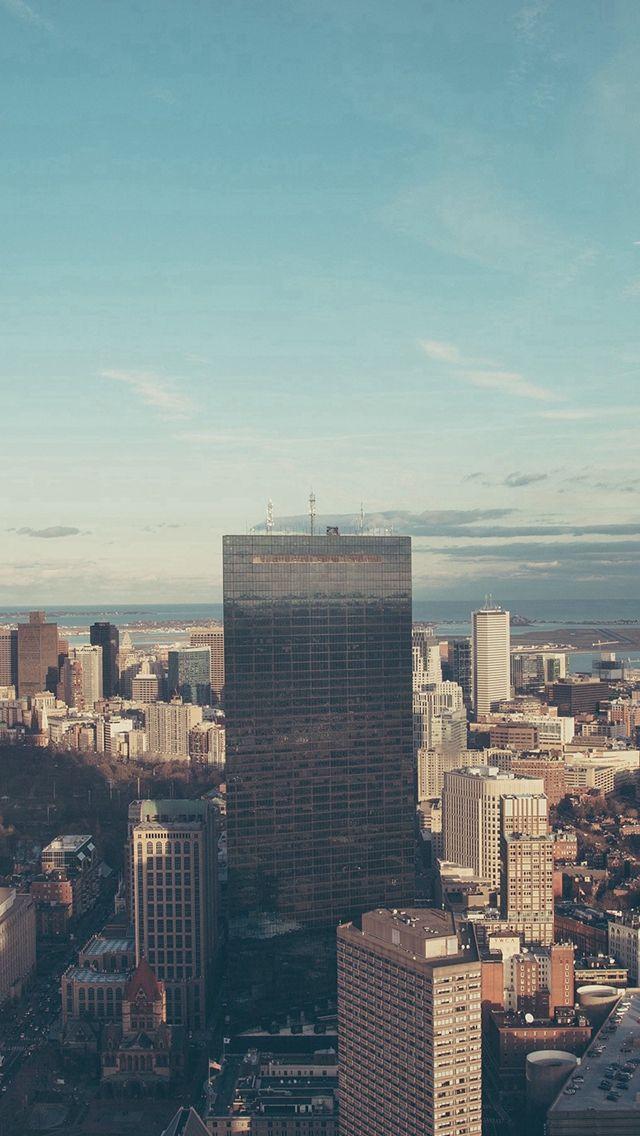 City Scape Building Road Sky Cloud iPhone 5s wallpaper