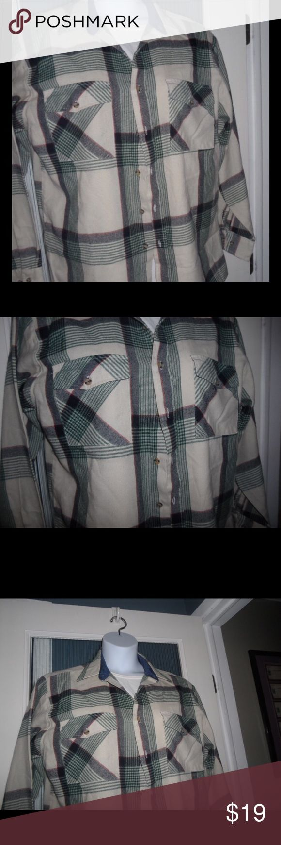 Backpackers Men's Plaid Flannel Shirt Shirt is in good condition. Backpackers Shirts Casual Button Down Shirts