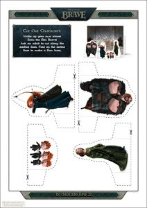 Disney/Pixar's BRAVE Printable Character Cut-Outs 1
