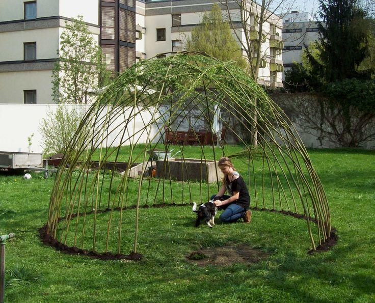 weidenlaube frisch gepflanzt weidenhaus pinterest wels cabanas and blog. Black Bedroom Furniture Sets. Home Design Ideas