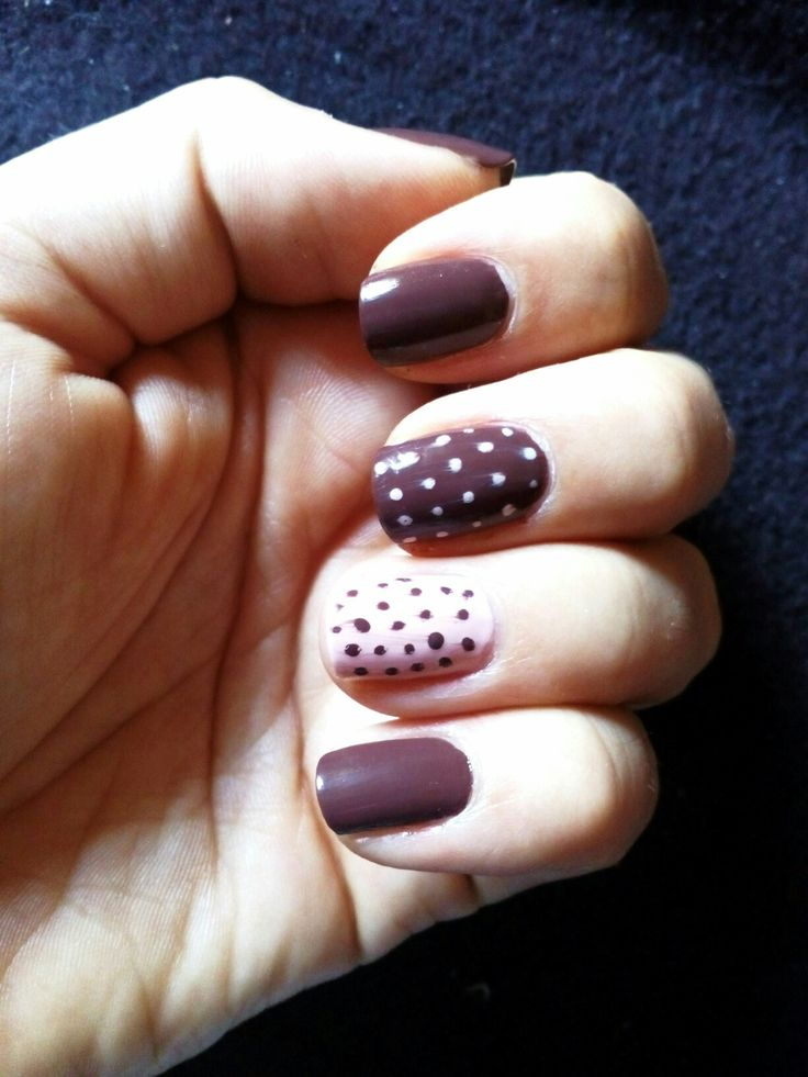 Gel lack Nail brown