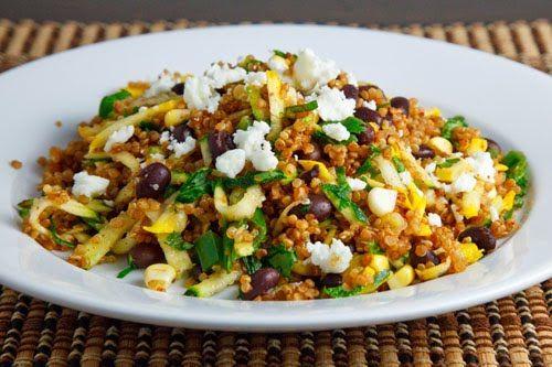 Zucchini and Corn Taco Seasoned Quinoa Salad | Recipe