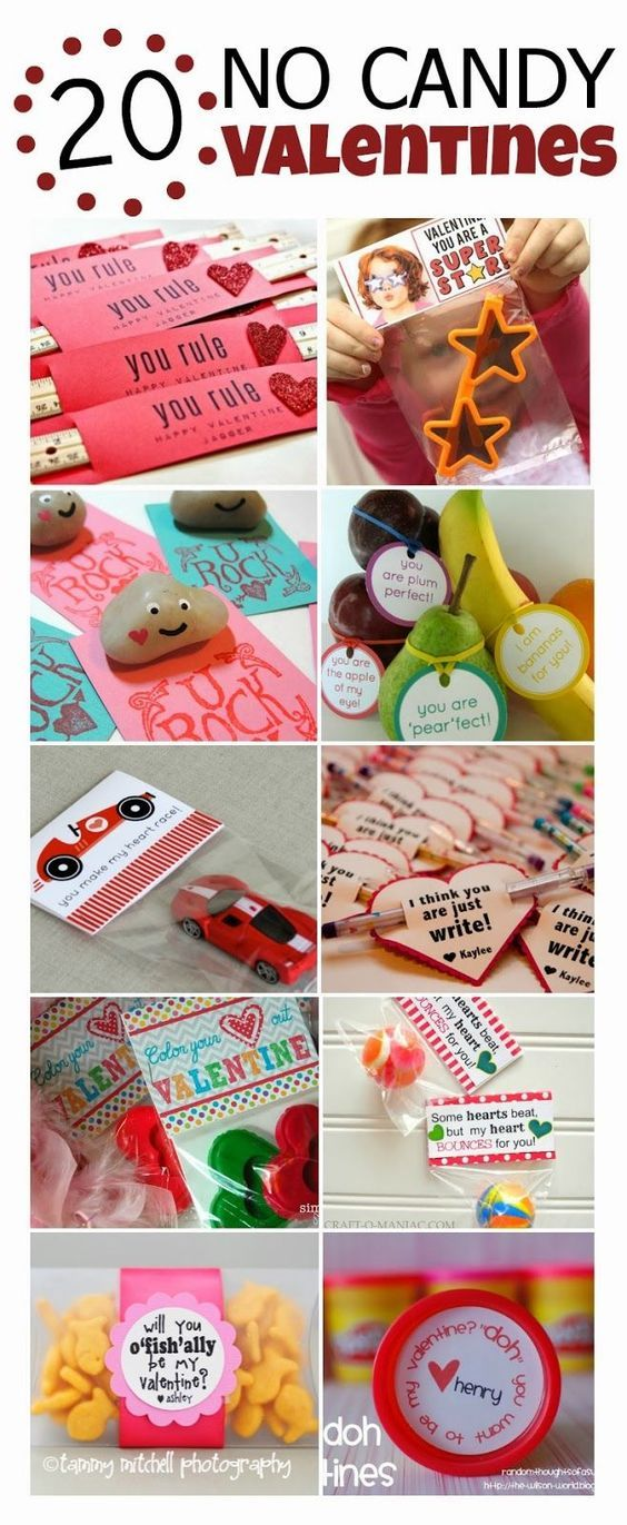 """Valentine's Day doesn't have to mean your kids/students are loaded up on sugar...we're loving these """"No Candy Valentine's"""" ideas!"""