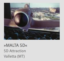 5D Attraction, 'Malta 5D', Valletta, Malta