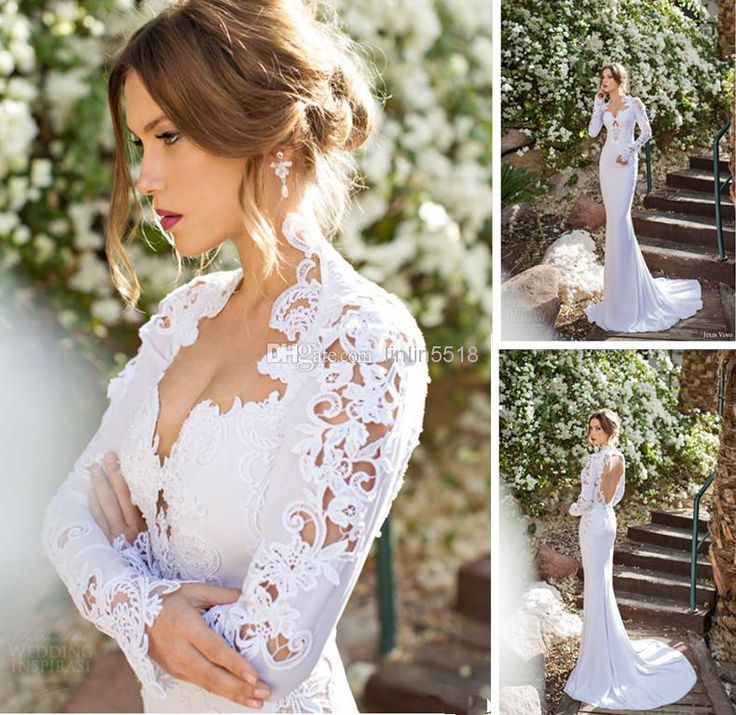 Discount Simple Elegant Open Back Long Sleeve Wedding: 1000+ Ideas About Wedding Dresses From China On Pinterest