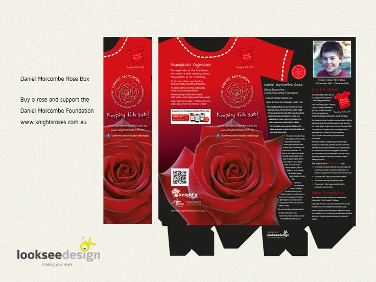 Daniel Morcombe Rose Packaging Box - Designed by Looksee Design