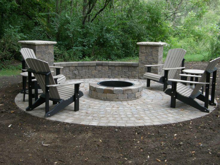 backyard seating ideas   ... ideas-with-circled-grey-paver-installation-for-backyard-garden-decor