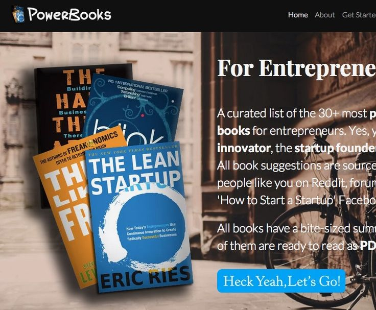 Powerbooks - a curated collection of selected Books for Entrepreneurs by Strikingly - http://powerbooks.strikingly.com/