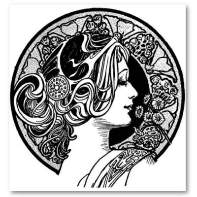 Art Deco Black And White Simple Intricate Of Line I Love It The World As Used To Be Nouveau Design