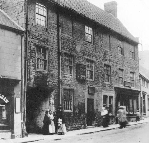 Church Street c1900. The Old Eight Bells pub (photo by A.S. Buxton)