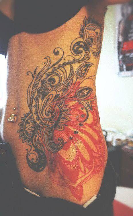 Classy and super pretty lower stomach tattoo designs!