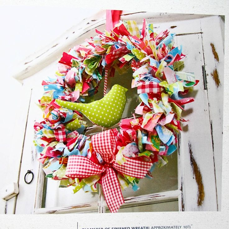 Colorful ribbon wreath.