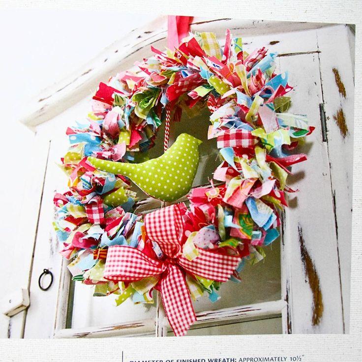 Colorful ribbon wreath.