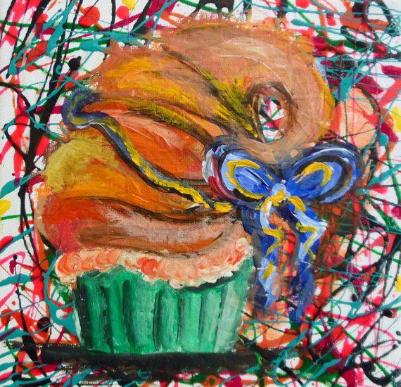 Cupcake Croissant  Flavour Original Modern Art Fantasy mixed