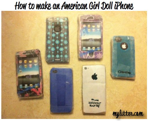 How to make an American Girl doll iPhone