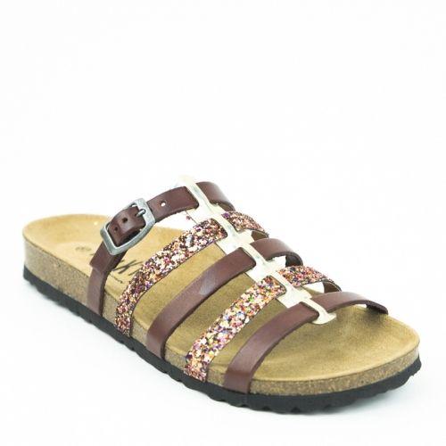 Mesdames aux pieds sensibles, découvrez avec bonheur et soulagement les nu-pieds Athena !Composés de cuir végétal bio, les sandales Plakton Athéna ont un plateau qui combine liège et latex, pour vous offrir un chaussant extrêmement confortable !