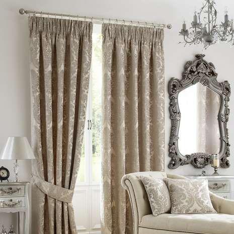 Natural Versailles Pencil Pleat Curtains