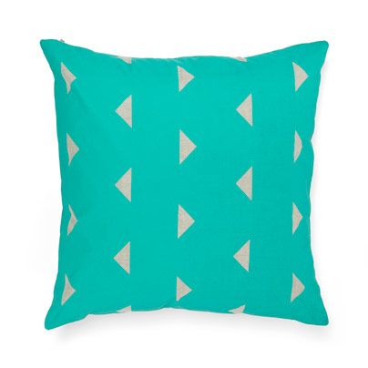 Triangles Cushion in Jade 50cm