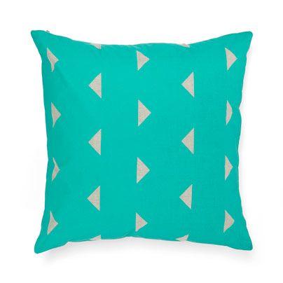 Triangles Cushion in Jade 50cm