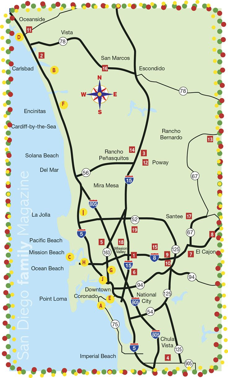 San Diego's Best Map of Christmas Light Displays!  Yay!!  I can't wait to check some of these out!!