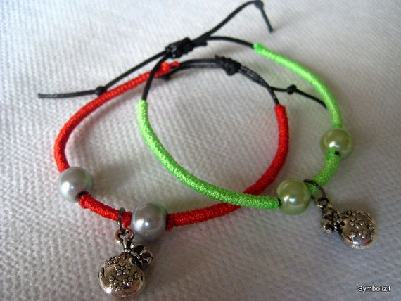 Lucky Charm Bracelet - Good Luck Bracelet - Red Green Pink Blue Gray Blue White Purple Purple Money Bag Charm Bracelet - Thin bracelet