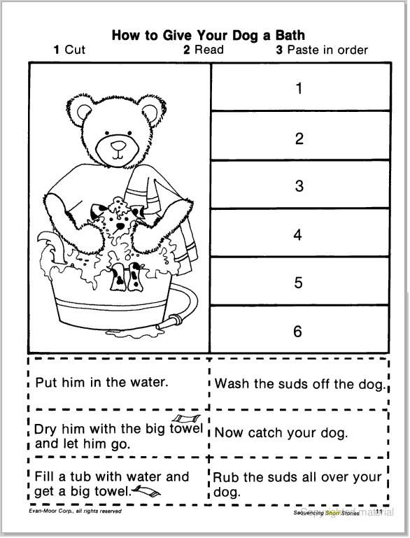 sequencing worksheets | SHORT STORY SEQUENCING (CUT & PASTE) | learningenglish-esl
