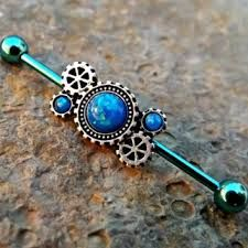 Image result for industrial piercing jewelry