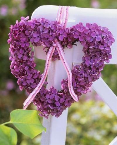 Purple Flower Heart Wreath...