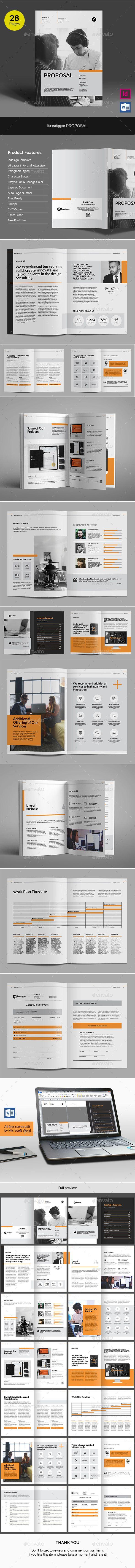 Kreatype Business Proposal v04 — InDesign INDD #report #word