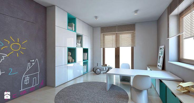 Dom jednorodzinny /Śląsk - Duży pokój dziecka dla chłopca dla malucha, styl nowoczesny - zdjęcie od A2 STUDIO pracownia architektury