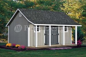 Oko Bi: Shed plans 12x16 with porch 15213