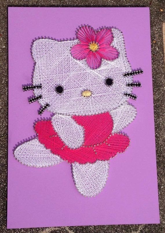Custom String Art Hello Kitty by MyHeartIsAlwaysHome on Etsy