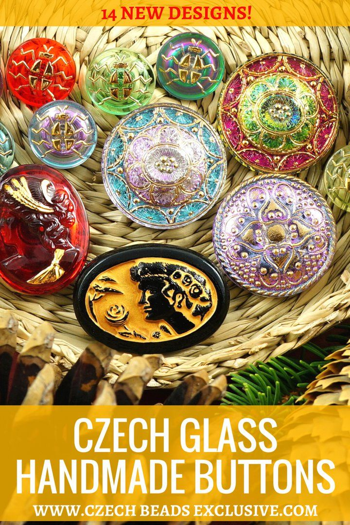 Czech Glass Handmade Buttons  14 New Designs! - Buy now with discount!  Hurry up - sold out very fast! www.CzechBeadsExclusive.com/+button SAVE them! ⚡️Lowest price from manufacturer! Get free gift! 1 shipping costs - unlimited order quantity!  Worldwide super fast ✈️ shipping with tracking number! Get high wholesale discounts! Sold with  at http://www.CzechBeadsExclusive.com #CzechBeadsExclusive #czechbeads #bead #beaded #beading #beadedjewelry #handmade #etsy #dawanda #amazon #diy…