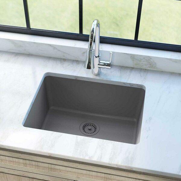 Quartz Classic 25 L X 19 W Undermount Kitchen Sink Undermount Kitchen Sinks Elkay Sink