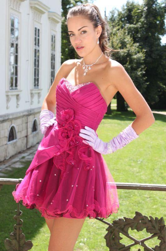 The Starlet  Fuchsia Beaded Party Dress