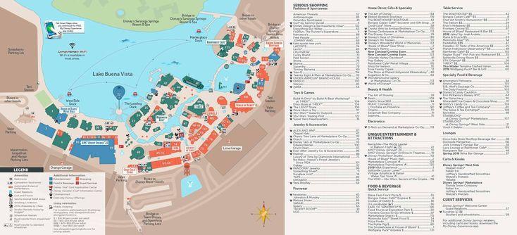 Mapa Disney Springs
