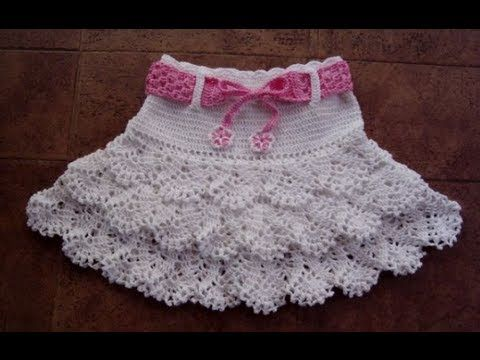 Short con vuelos a crochet por Rosario Soto - YouTube