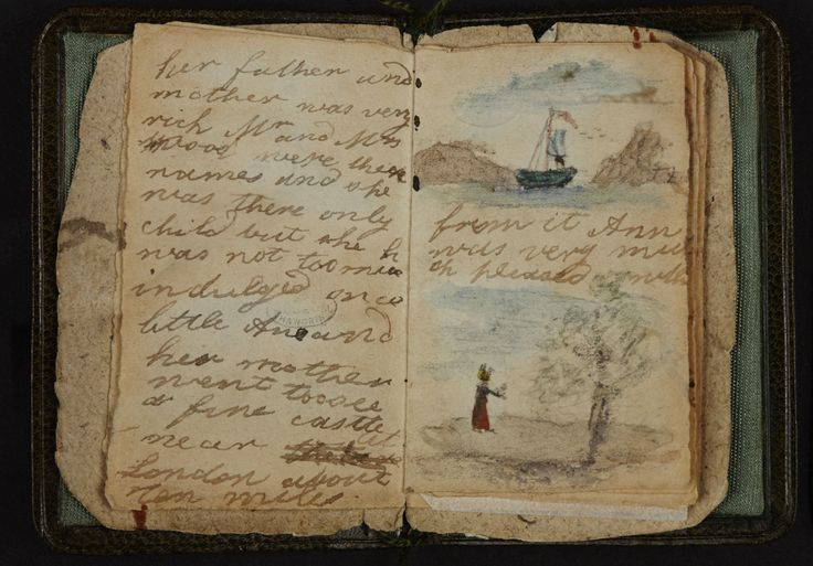 Charlotte Bronte's earliest work, an illustrated story she wrote for her baby sister Anne.