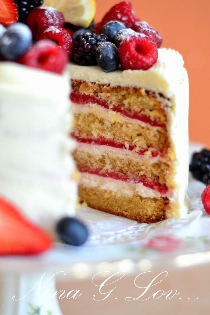 With love, taste and beauty... : Медовый торт с малиновым мармеладом