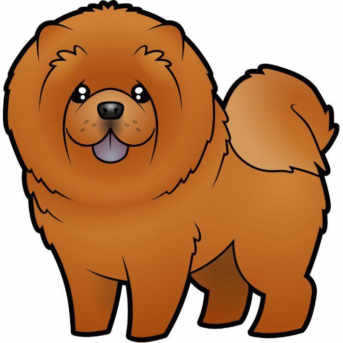 Cartoon Chow Chow Cutout Zazzle Com Cute Dog Drawing Cartoon Chow Chow