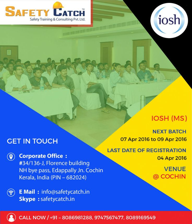 #IOSH Managing Safely course equips managers and supervisors with the essential health and #safety skills they need every day: http://www.safetycatch.in/html/courses-iosh.html Join our next #training session starting on 7th April 2016.